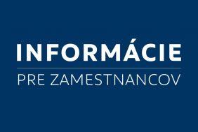 Informácie pre zamestnancov. Aktualizácia 2.1.2021